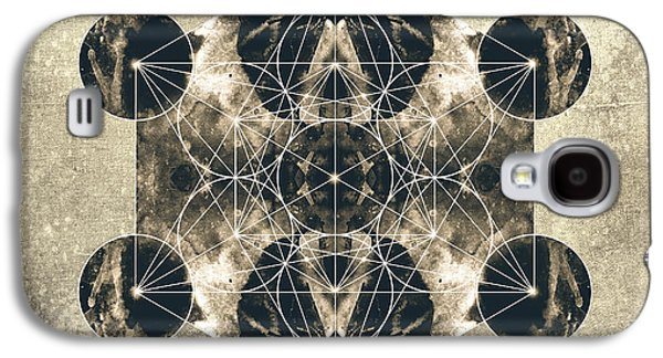 Flower Of Life Galaxy S4 Cases - Metatrons Cube Silver Galaxy S4 Case by Filippo B