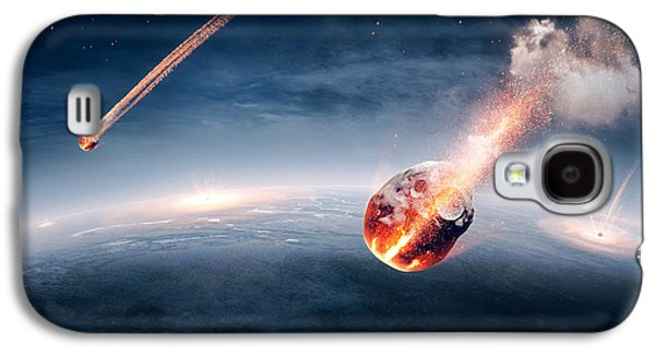 Exploding Galaxy S4 Cases - Meteorites on their way to earth Galaxy S4 Case by Johan Swanepoel
