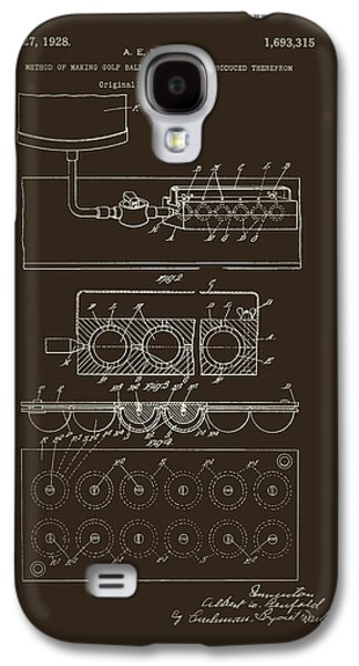 Machinery Drawings Galaxy S4 Cases - Method of Making Golf Balls Patent 1928 Galaxy S4 Case by Mountain Dreams