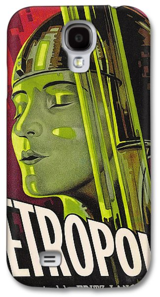 Science Fiction Drawings Galaxy S4 Cases - Metropolis Film Poster Galaxy S4 Case by German School