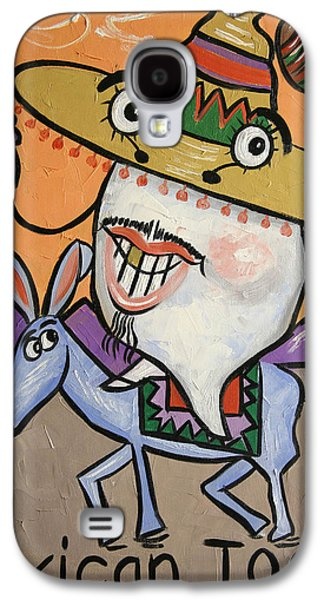 Framed Digital Galaxy S4 Cases - Mexican Tooth Galaxy S4 Case by Anthony Falbo