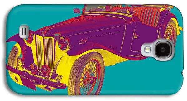 Mg Convertible Antique Car Pop Art Galaxy S4 Case by Keith Webber Jr