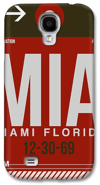 Capital Galaxy S4 Cases - MIA Miami Airport Poster 4 Galaxy S4 Case by Naxart Studio