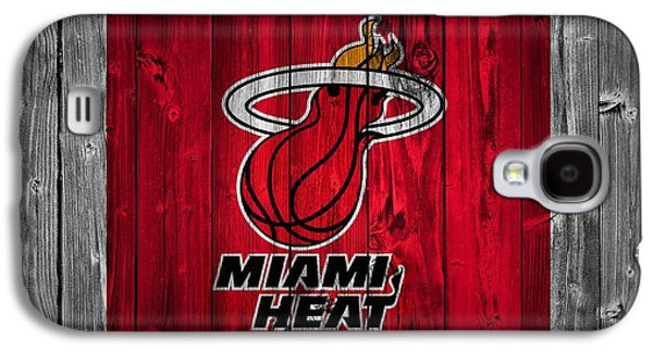 Lebron Mixed Media Galaxy S4 Cases - Miami Heat Barn Door Galaxy S4 Case by Dan Sproul