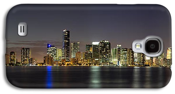 Vibrant Galaxy S4 Cases - Miami Skyline Galaxy S4 Case by Andres Leon