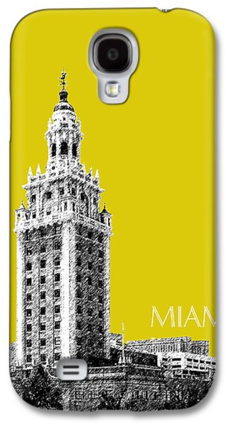 Miami Skyline Freedom Tower - Mustard Galaxy S4 Case by DB Artist