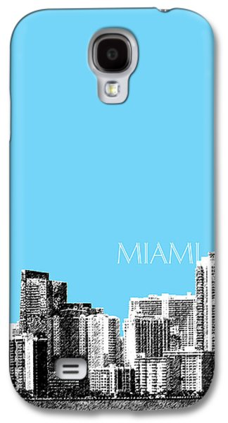 Miami Skyline - Sky Blue Galaxy S4 Case by DB Artist