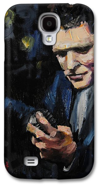 Frank Sinatra Paintings Galaxy S4 Cases - Michael Buble Galaxy S4 Case by Carole Foret
