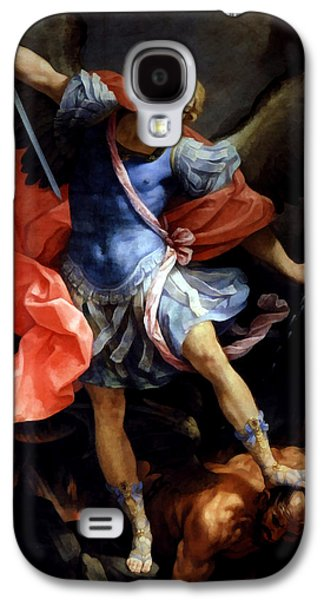 The Followers Galaxy S4 Cases - Michael Defeating Satan Galaxy S4 Case by Guido Reni