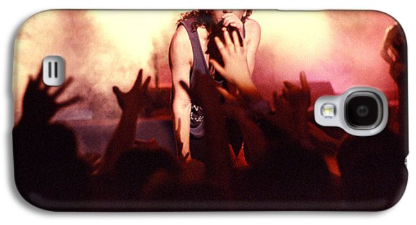 Michael Photographs Galaxy S4 Cases - Michael Hutchence and INXS 1985 Galaxy S4 Case by Sean Davey