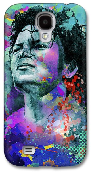King Of Pop Galaxy S4 Cases - Michael Jackson 12 Galaxy S4 Case by MB Art factory