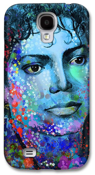 King Of Pop Galaxy S4 Cases - Michael Jackson 14 Galaxy S4 Case by MB Art factory