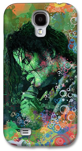 King Of Pop Galaxy S4 Cases - Michael Jackson 15 Galaxy S4 Case by MB Art factory