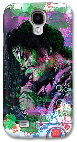 King Of Pop Galaxy S4 Cases - Michael Jackson 16 Galaxy S4 Case by MB Art factory