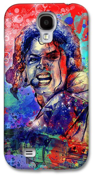 King Of Pop Galaxy S4 Cases - Michael Jackson 8 Galaxy S4 Case by MB Art factory