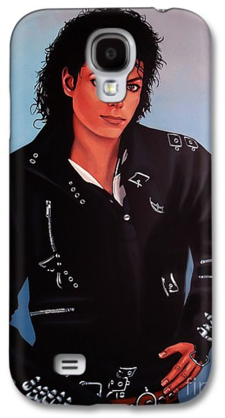 Death Galaxy S4 Cases - Michael Jackson Bad Galaxy S4 Case by Paul  Meijering