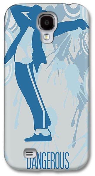 Jacko Galaxy S4 Cases - Michael Jackson Dangerous Poster Galaxy S4 Case by Florian Rodarte