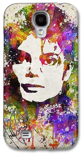 Michael Digital Galaxy S4 Cases - Michael Jackson in Color Galaxy S4 Case by Aged Pixel
