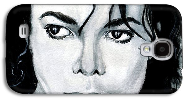 Michael Jackson Paintings Galaxy S4 Cases - Michael Jackson Portrait Galaxy S4 Case by Alban Dizdari