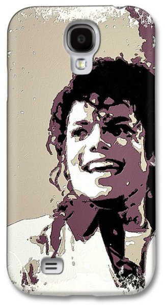 Jacko Galaxy S4 Cases - Michael Jackson Portrait Art Galaxy S4 Case by Florian Rodarte