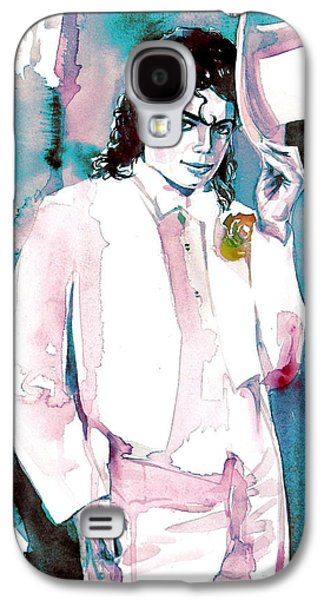 Michael Jackson Paintings Galaxy S4 Cases - MICHAEL JACKSON - portrait.17 Galaxy S4 Case by Fabrizio Cassetta