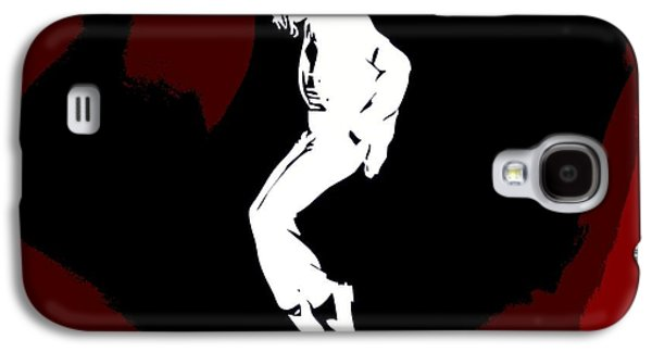 Mj Digital Art Galaxy S4 Cases - Michael Jackson Red Silhouette Galaxy S4 Case by Dan Sproul