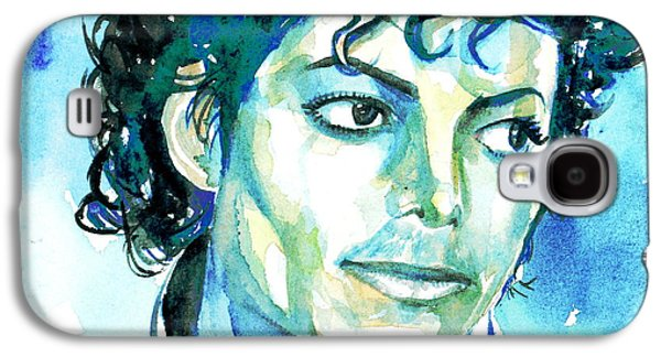 Michael Jackson Paintings Galaxy S4 Cases - MICHAEL JACKSON - watercolor portrait.1 Galaxy S4 Case by Fabrizio Cassetta