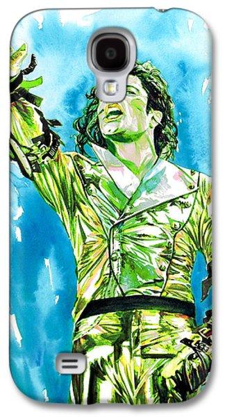 Michael Jackson Paintings Galaxy S4 Cases - MICHAEL JACKSON - watercolor portrait.14 Galaxy S4 Case by Fabrizio Cassetta