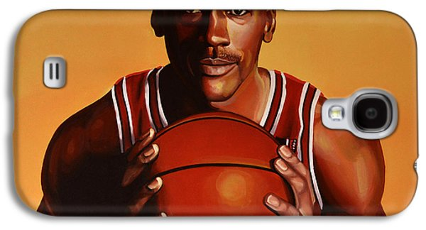 Nba Paintings Galaxy S4 Cases - Michael Jordan 2 Galaxy S4 Case by Paul Meijering