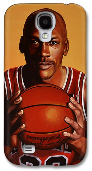Nba Galaxy S4 Cases - Michael Jordan 2 Galaxy S4 Case by Paul Meijering
