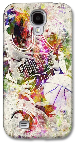 Distress Galaxy S4 Cases - Michael Jordan Galaxy S4 Case by Aged Pixel