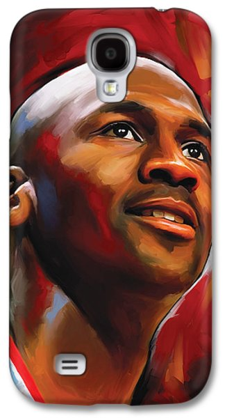 Nba Mixed Media Galaxy S4 Cases - Michael Jordan Artwork 2 Galaxy S4 Case by Sheraz A