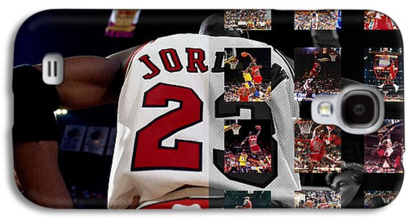 Chicago Bulls Galaxy S4 Cases - Michael Jordan Galaxy S4 Case by Joe Hamilton