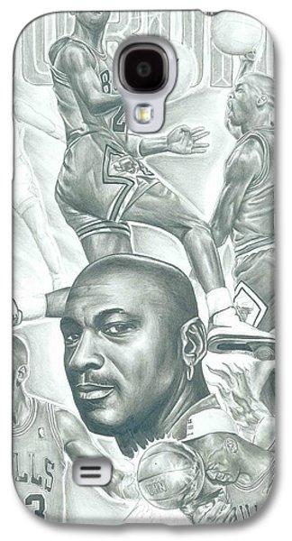 Jordan Drawings Galaxy S4 Cases - Michael Jordan Galaxy S4 Case by Kobe Carter