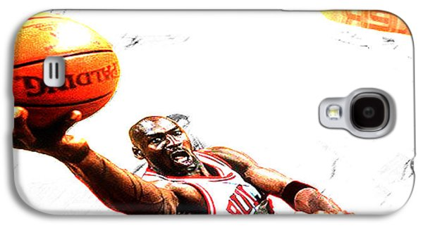 Patrick Ewing Galaxy S4 Cases - Michael Jordan Lift Off Galaxy S4 Case by Brian Reaves