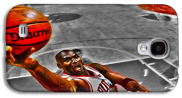 Patrick Ewing Galaxy S4 Cases - Michael Jordan Lift Off II Galaxy S4 Case by Brian Reaves