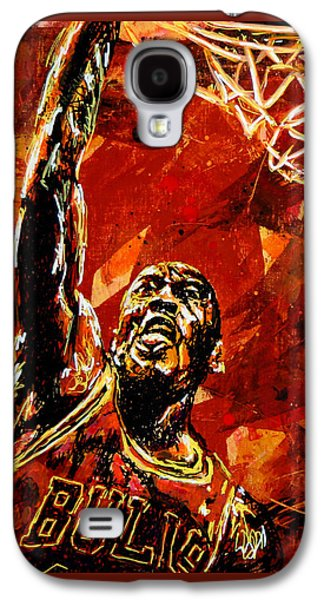 Michael Jordan Galaxy S4 Case by Maria Arango