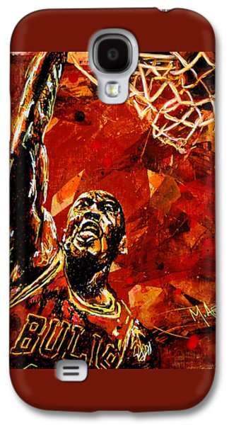 Dunk Galaxy S4 Cases - Michael Jordan Galaxy S4 Case by Maria Arango