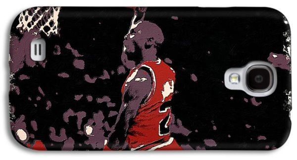 Mj Digital Art Galaxy S4 Cases - Michael Jordan Poster Art Dunk Galaxy S4 Case by Florian Rodarte
