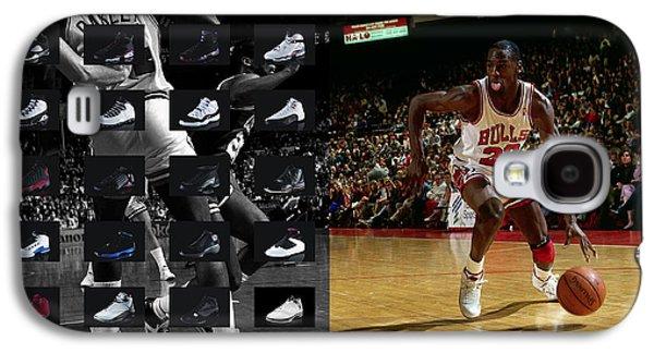 Michael Jordan Shoes Galaxy S4 Case by Joe Hamilton