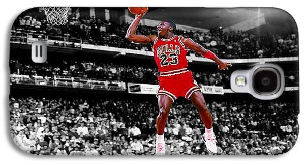 Mj Digital Galaxy S4 Cases - Michael Jordan Slam Dunk Contest Galaxy S4 Case by Brian Reaves