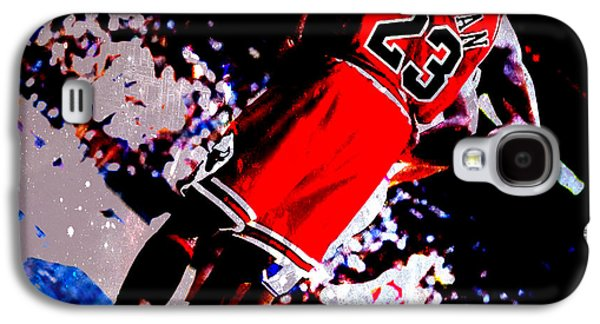 Dunk Mixed Media Galaxy S4 Cases - Michael Jordan Standing Tall Galaxy S4 Case by Brian Reaves