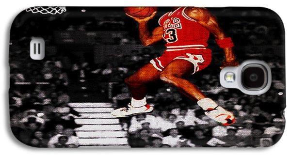 Michael Jordan Suspended In Mid Air Galaxy S4 Case by Brian Reaves