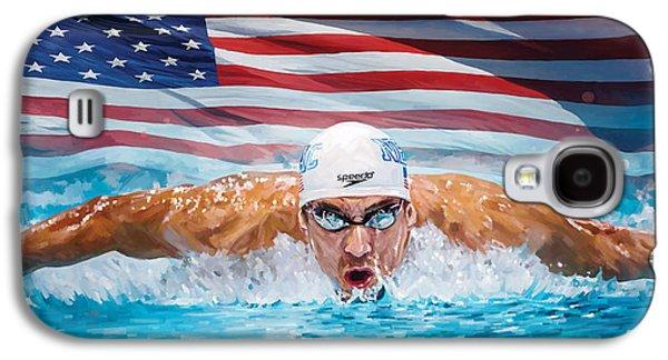 Michael Phelps Artwork Galaxy S4 Case by Sheraz A