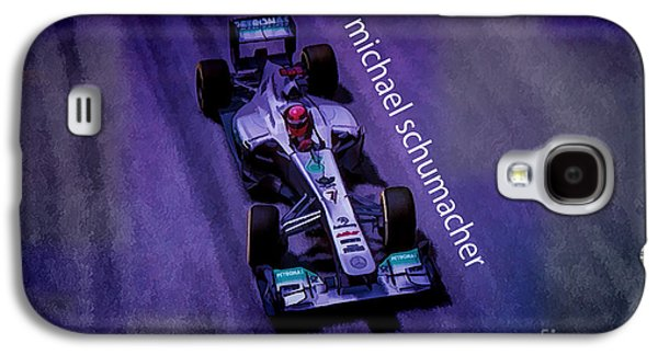 Michael Digital Galaxy S4 Cases - Michael Schumacher Galaxy S4 Case by Marvin Spates