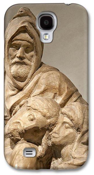Statue Portrait Galaxy S4 Cases - Michelangelos Final Pieta Galaxy S4 Case by Melany Sarafis