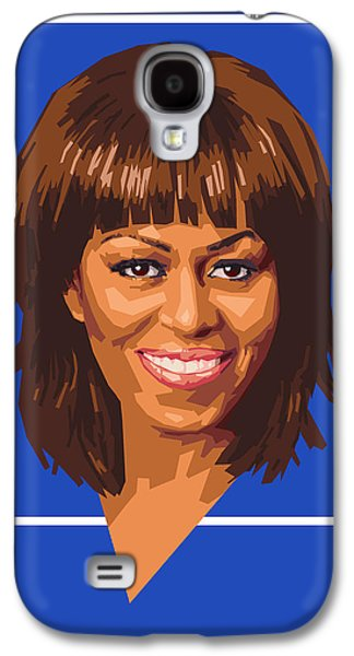 First-lady Galaxy S4 Cases - Michelle Galaxy S4 Case by Douglas Simonson