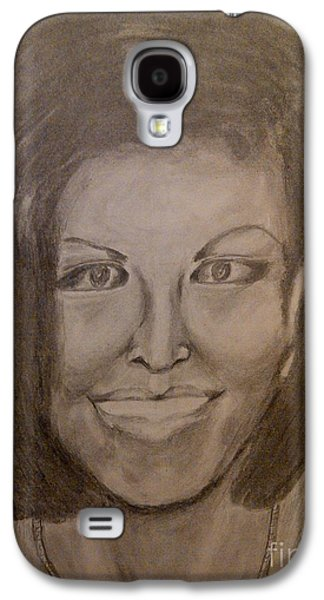 Michelle Obama Portrait Galaxy S4 Cases - Michelle Obama Galaxy S4 Case by Irving Starr