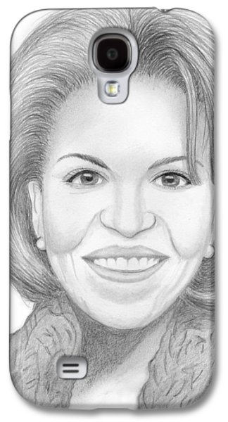 First Lady Drawings Galaxy S4 Cases - Michelle Obama Galaxy S4 Case by Jose Valeriano