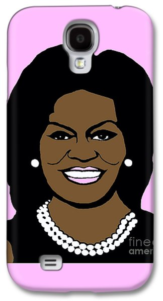 Michelle Obama Photographs Galaxy S4 Cases - Michelle Obama Galaxy S4 Case by Jost Houk